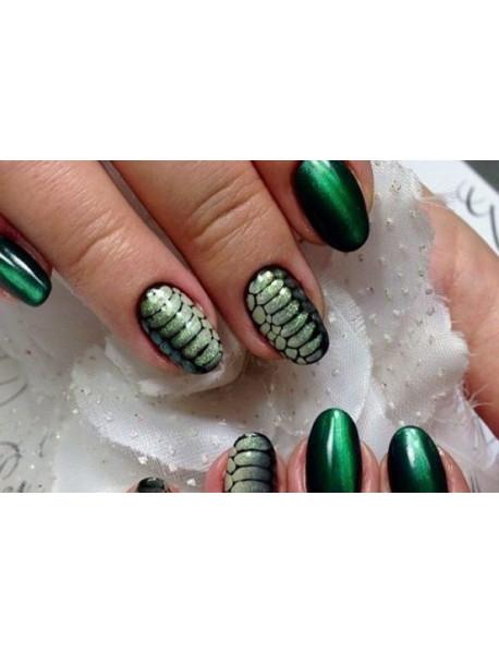 Дизайн ногтей гель-лаком: кожа рептилии