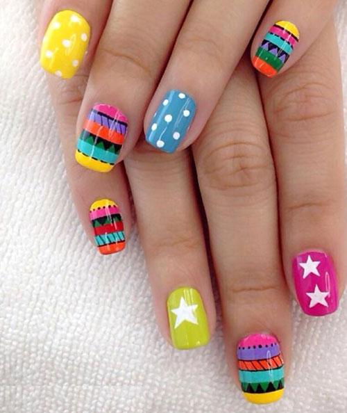 Шеллак яркие ногти